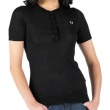 Fred Perry Womens Penny Collar Knitted Shirt Black