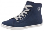 Fred Perry Womens Phoenix Suede Trainers Carbon
