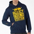 Addict Mens Sound System Overhead Hoody Navy
