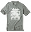 Addict Mens Sound System T-Shirt Athletic